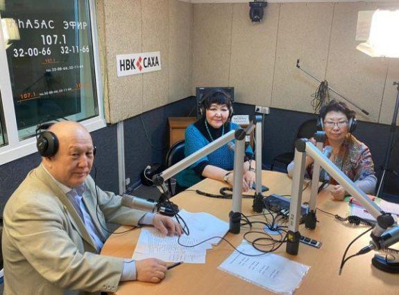 Участие сотрудников ЯНЦ КМП в передаче радио НВК Саха посвященной «Дню Орфанных заболеваний» России