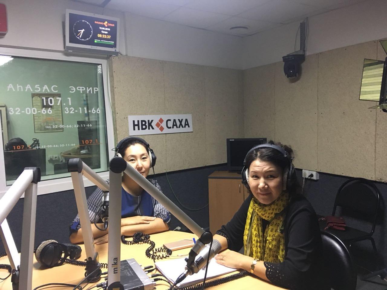 Выступление по радио и телевидению о работе кабинета памяти в больнице ЯНЦ КМП